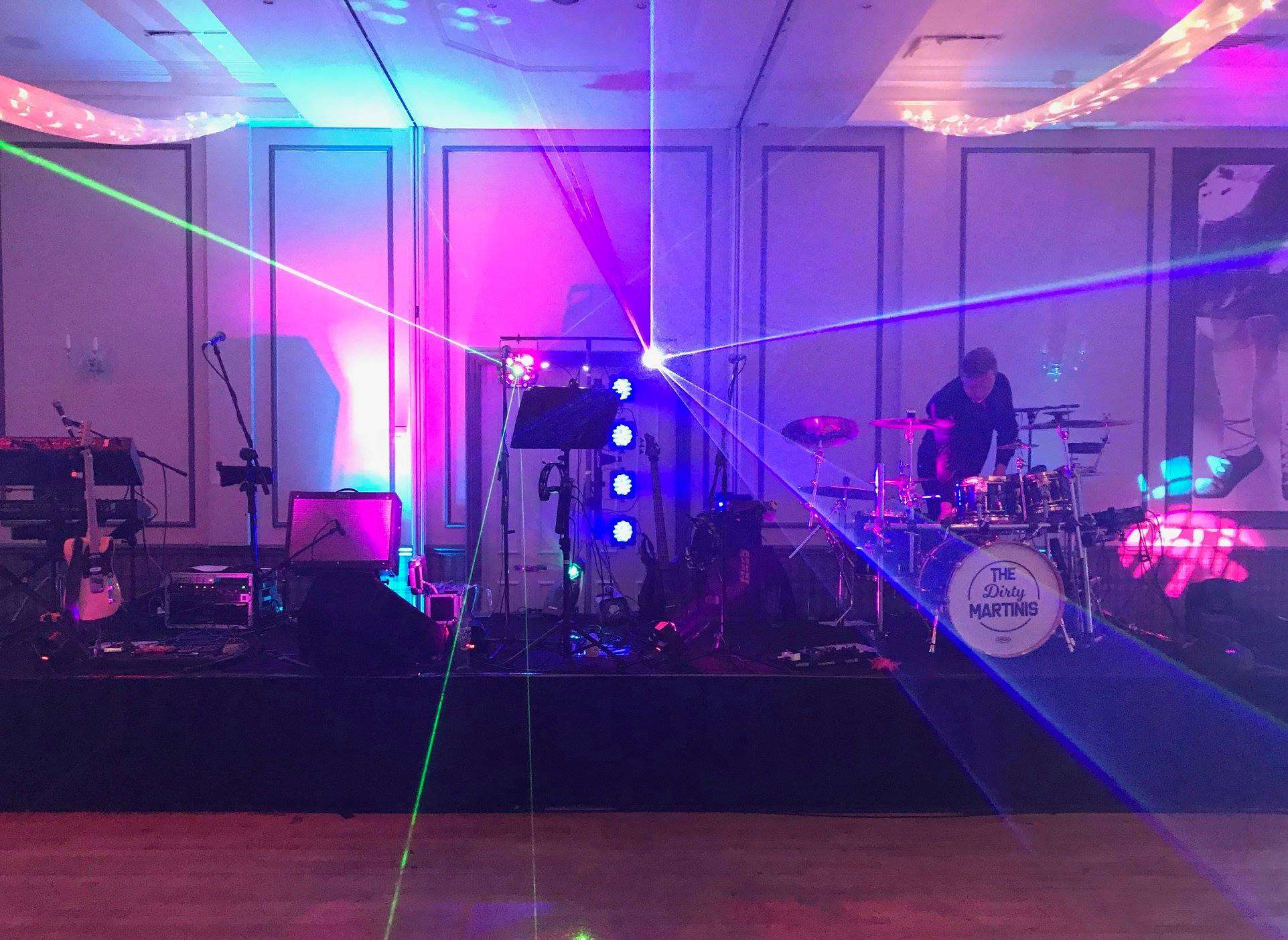 The Dirty Matinis Lighting Rig